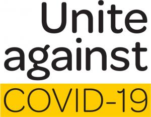 unite against covid square